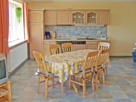 """Für kleine Gerichte steht eine Küche zur Verfügung. / Ferienwohnung """"Heuböön"""" in Rantrum"""