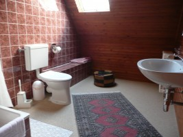 """ein großes, geräumiges Duschbad mit WC. / Ferienwohnung """"Ellen Lenz"""" in Husum-Schobüll"""