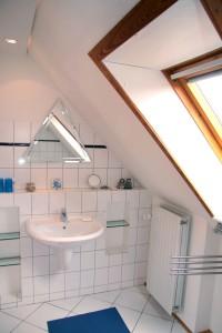 """Dusche mit WC in Komfort- höhe / Ferienwohnung """" Möwe"""" in Husum-Schobüll"""
