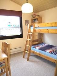 """Etagenbett, kinderfreundlich eingerichtet. Hier macht der Urlaub Spaß für die Kids. / Ferienhaus """"Kristin"""" in Simonsberg"""