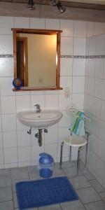 """Das Badezimmer / Ferienhaus """"Petersen"""" in Arlewatt"""