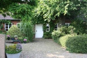 """Hauseingang / Ferienhaus """"Petersen"""" in Arlewatt"""