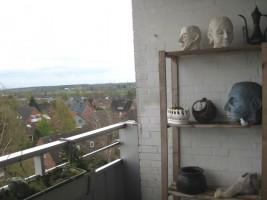 Blick vom Balkon / Ferienwohnung  in Husum