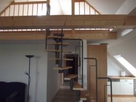 """Treppenaufgang zum Schlafzimmmer / Ferienwohnung """"Haus Iwersen"""" in Hattstetdtermarsch"""