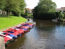 """....laden zum Bootsfahren ein... / Ferienwohnung """"Nordisches Nest"""" in Friedrichstadt"""