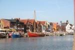 """Blick auf den Binnenhafen. 5 Gehminuten bis in die Innenstadt und zur Hafenmeile / Ferienwohnung """"Stadtlust 2"""" in Husum"""