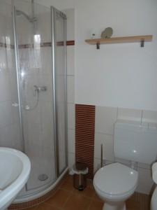 """Bad mit Dusche. / Ferienhaus """"Haus Drybarg"""" in Simonsberg"""