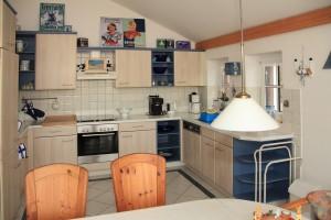 """Eine schöne große helle Küche gut ausgestattet / Ferienhaus """"Marschblick"""" in Hattstedtermarsch"""