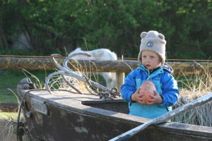 """Bauernhof entdecken heißt die Natur entdecken. Kinder finden auf unseren Bauernhöfen immer ein Plätzchen für das eigene kleine """"Abenteuer"""". Ob zusammen mit den Hoftieren oder beim Spielen mit den anderen Feriengästen. Das Leuchten in den Kinderaugen / Bauernhof/Ferienhof """"FeWo Sperlingslust"""" in Osterhever"""