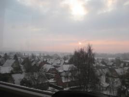 Ausblick im Winter / Ferienwohnung  in Husum