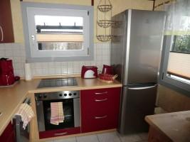 "Küche mit Kühlgefrierkombination / Ferienhaus ""Haus Nixe"" in Simonsberg"