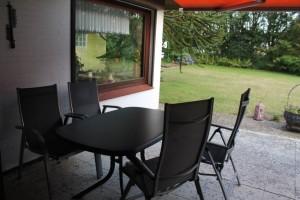 """Sitzbereich auf der Terrasse / Ferienwohnung """"Haus Johannsen"""" in Husum"""