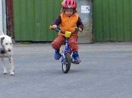 """Auf unserem Hofplatz hat schon so manches Kind das Radfahren gelernt .... / Bauernhof/Ferienhof """"Ferienhof Gertz"""" in Osterhever"""
