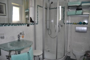 """Das  Duschbad mit WC.... / Ferienwohnung """"Carpe Diem"""" in Bohmstedt"""