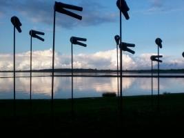 """""""Windhosen"""" am Dockkoog / Ferienwohnung """"Haus Johannsen"""" in Husum"""