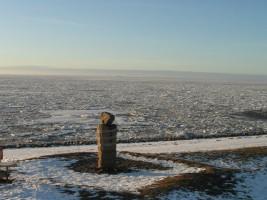 "das Wattenmeer im Winter / Ferienwohnung ""Op England"" in Nordstrand"