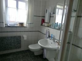 """Dusche/WC / Ferienhaus """"Muschelsucher 1"""" in Nordstrand-Norderhafen"""