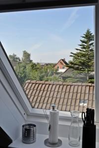 """Blick aus der Küche / Ferienwohnung """"Nordseelenruhe"""" in Husum"""