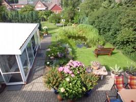 """Blick von oben in den schönen Garten! / Ferienwohnung """"Christian Steensen"""" in Husum"""