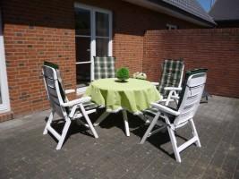 """Terrasse zum Garten / Ferienhaus """"Haus Lissi"""" in Flensburg"""