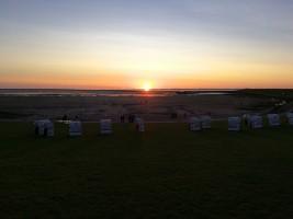 """Sonnenuntergang am Strand / Ferienwohnung """"Haus Schuldt"""" in Mildstedt/Husum"""