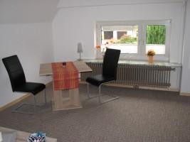 """Sitzgruppe für 2 Personen. / Ferienwohnung """"Achtern Diek"""" in Simonsberg"""