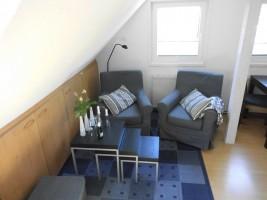 """Sitzecke Wohnbereich / Ferienwohnung """"Haus Droste"""" in Husum / Schobüll"""