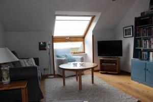 """Wohnzimmer / Ferienwohnung """"Das Haus am Meer Wohnung 2"""" in Husum Schobüll"""