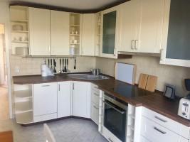 """Küche Die Küche ist mit einer kompletten """"Koch- und Backausrüstung"""" ausgestattet. / Ferienhaus """"Heimathafen"""" in Nordstrand"""