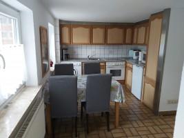 """Die Küche ist komplett ausgestattet. ( nur eine Spülmaschine ist nicht vorhanden). / Ferienwohnung """"Ferienwohnung-Knaepper"""" in Husum"""