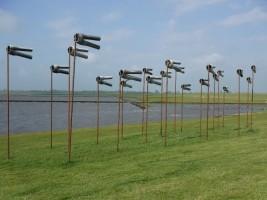 """Kunstinstallation am Dockkoog / Ferienwohnung """"Husum-Tied"""" in Husum"""