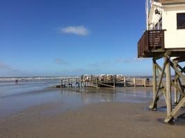 """Strand von St.-Peter-Ording / Ferienwohnung """"Husum-Tied"""" in Husum"""