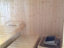 """Sauna steht kostenlos zur Verfügung / Ferienwohnung """"Loheide"""" in Langenhorn"""