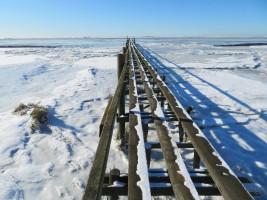 """..... im letzten Drittel führt die winterfeste Variante auf ... / Ferienwohnung """"Nordstrand frei ab 29.10."""" in Husum - Schobüll"""