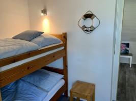 """Kinderzimmer oben mit Stockbett. / Ferienhaus """"Ferienhaus Neukoog II"""" in Nordstrand"""
