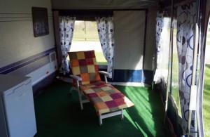 """Liege im Vorzelt / Bed and Breakfast """"Camping Nordstrand Platz """"Margarethenruh"""""""" in Nordstrand"""