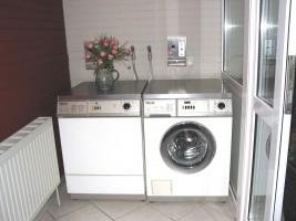 "Waschmaschine und Trockner / Bed and Breakfast ""Camping Nordstrand Platz ""Margarethenruh"""" in Nordstrand"