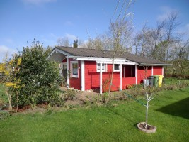 "Ferienhaus Ansicht aus süd-ost / Ferienhaus ""Haus Nixe"" in Simonsberg"