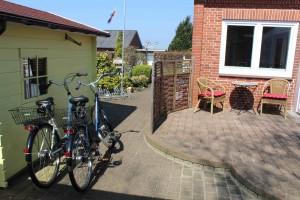 """Hauseigene Fahrräder / Ferienhaus """"Lat di tied"""" in Husum"""