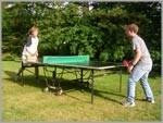 """in unserem Garten können Sie sich sportlich betätigen und eine Runde Tischtennis spielen. / Bed and Breakfast """"Gaestehaus Metzner"""" in Husum - Schobüll"""
